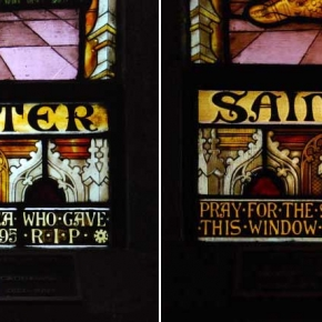 Before and after - detail