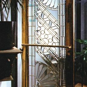 Brass Art Deco Door