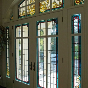 Leaded Glass Balcony Doors